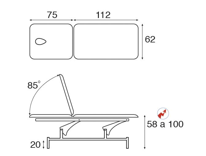 table ecopostural c3541